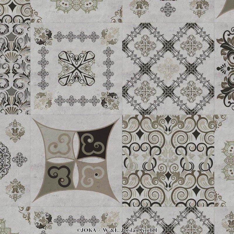 joka naturdesignboden 633 ornament concrete 264 bio klick vinylboden bioboden g nstig kaufen. Black Bedroom Furniture Sets. Home Design Ideas