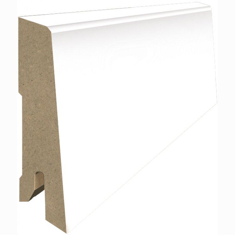 mdf sockelleiste sl 1001 78mm hoch wei g nstig kaufen onlineshop vinylboden. Black Bedroom Furniture Sets. Home Design Ideas