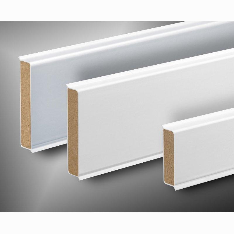 kunststoff sockelleiste kubisch 80mm hoch versch farben. Black Bedroom Furniture Sets. Home Design Ideas