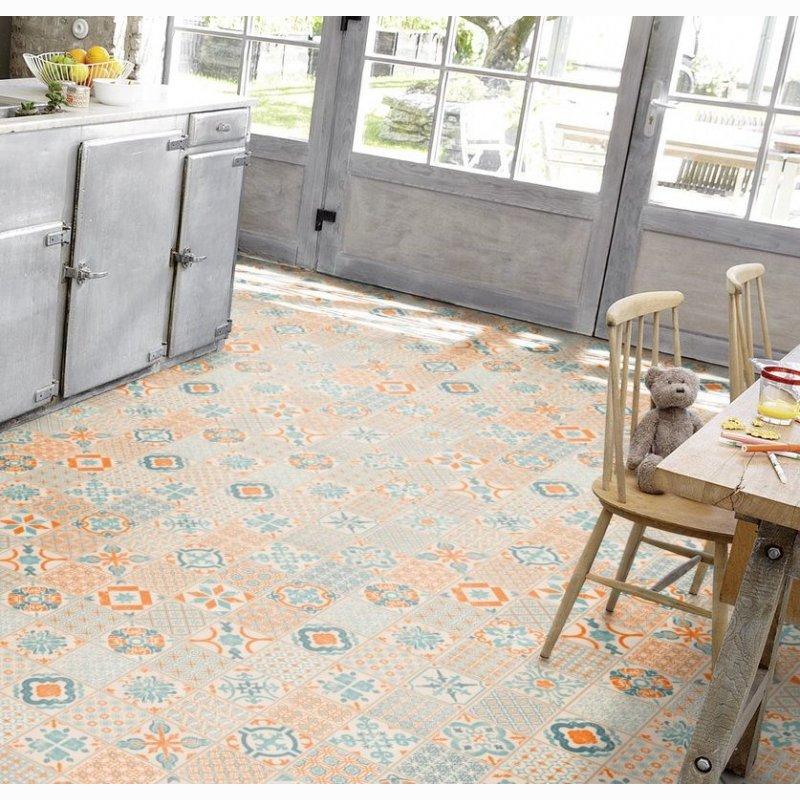 tarkett starfloor click 30 retro orange blue 36001003 klick vinylboden designbodenbelag. Black Bedroom Furniture Sets. Home Design Ideas