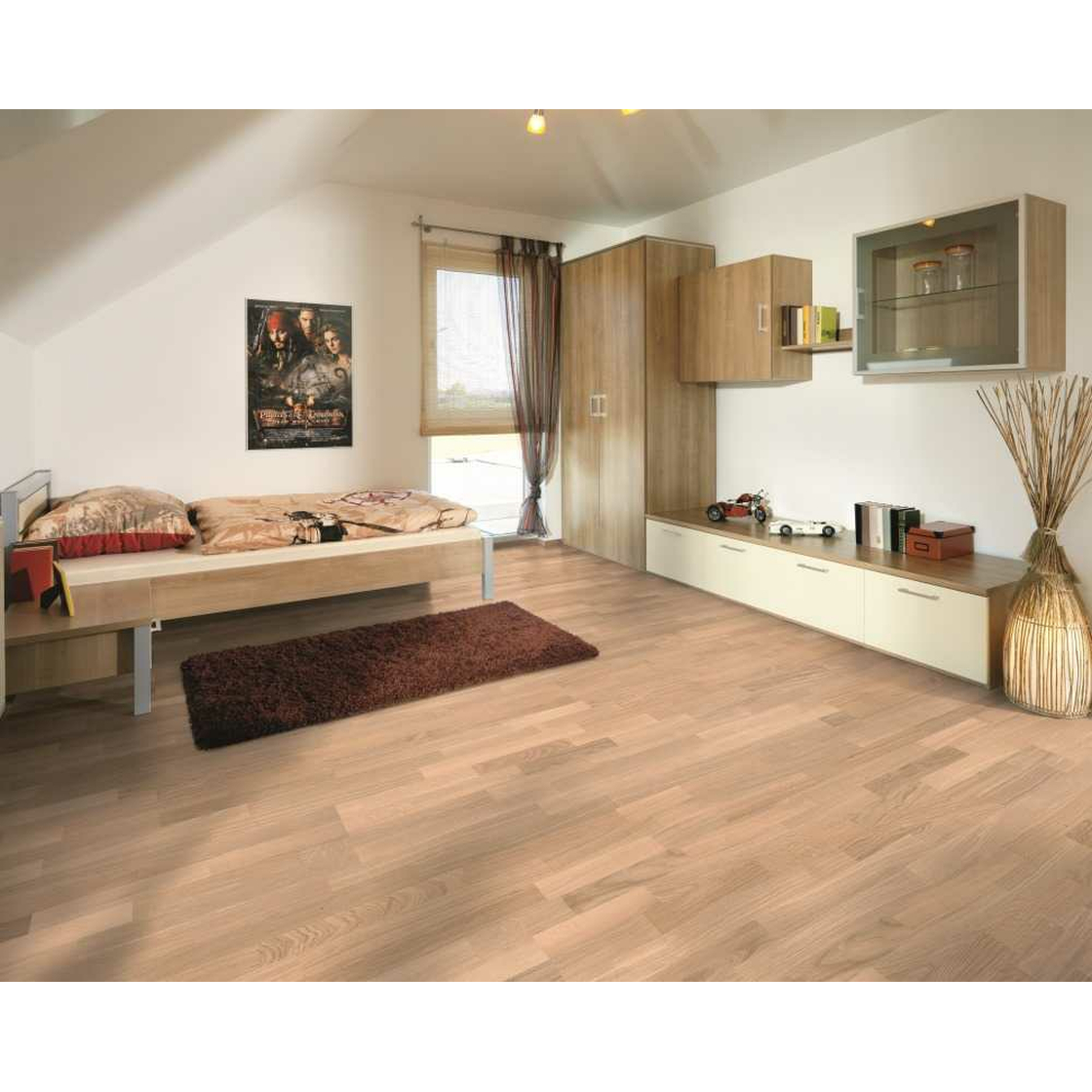 hinterseer parkett parat 190 eiche natur extra wei. Black Bedroom Furniture Sets. Home Design Ideas