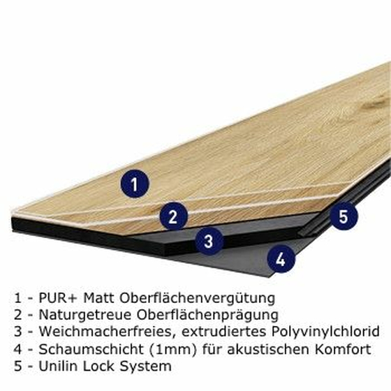 Gerflor Rigid 55 Lock Acoustic - Suave Light 0978 | Klick-Vinylboden